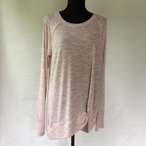 Juicy Couture pink and white tunic sweater
